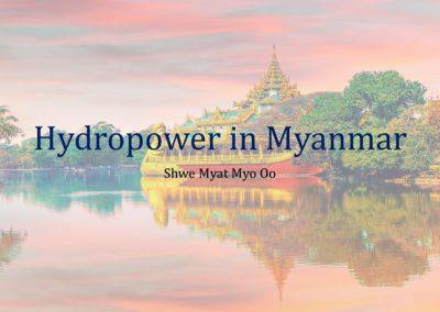Hydropower Project 1-Status of Hydropower Development in Myanmar